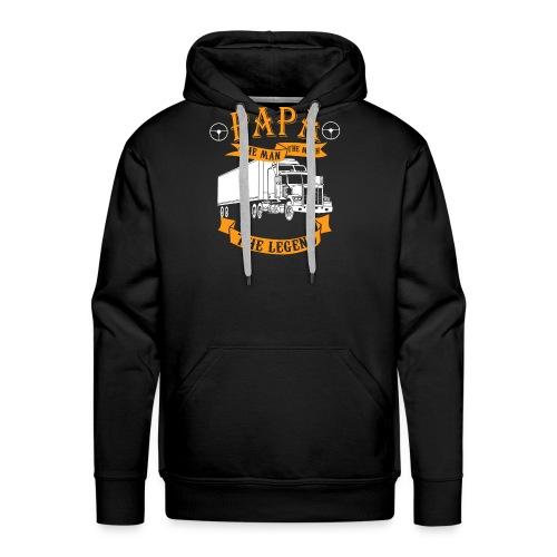 papa - Sweat-shirt à capuche Premium pour hommes