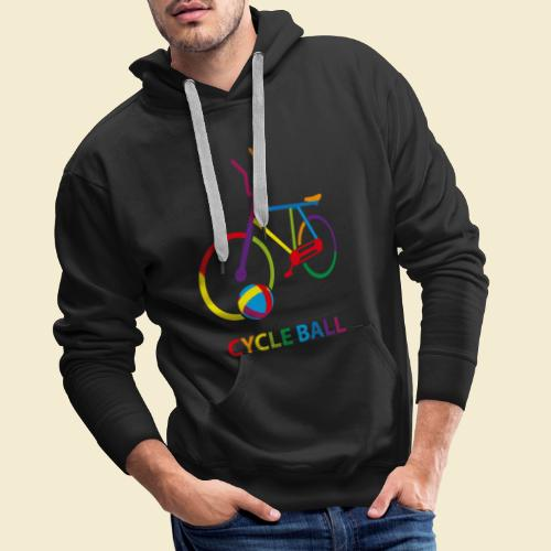 Radball | Cycle Ball Rainbow - Männer Premium Hoodie