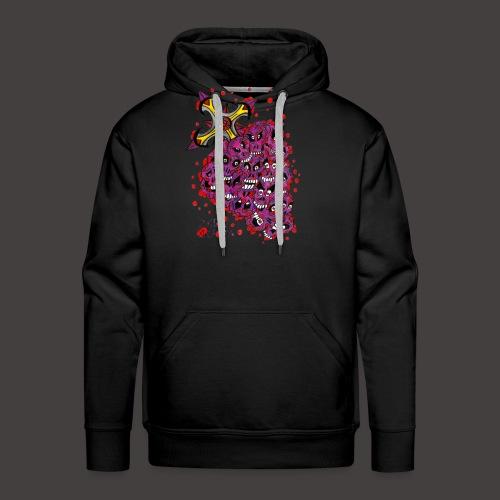 Cross Grapes - Sweat-shirt à capuche Premium pour hommes