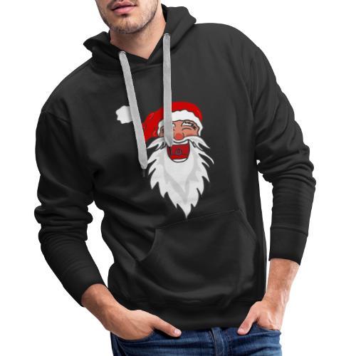Lachender Nikolaus Santa Clause Weihnachten - Männer Premium Hoodie