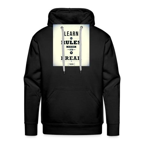 RULES - Mannen Premium hoodie