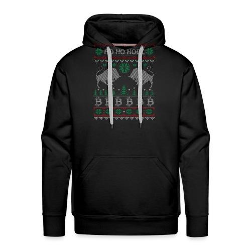 Ugly Christmas Bitcoin Pullover T-Shirt - Männer Premium Hoodie