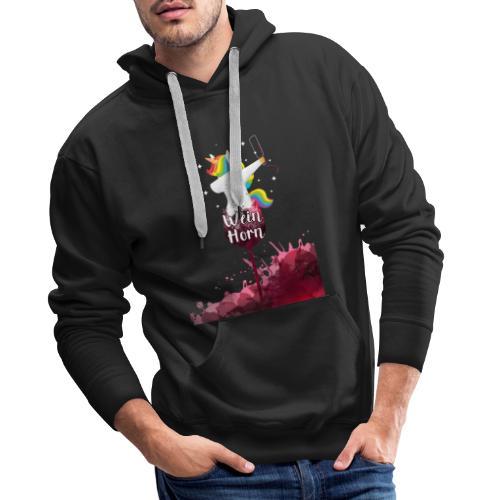 Weinhorn Splash Einhorn Design - Männer Premium Hoodie
