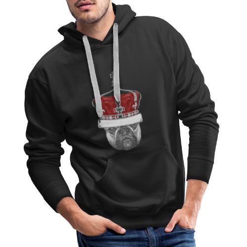 Pies Korona - Bluza męska Premium z kapturem