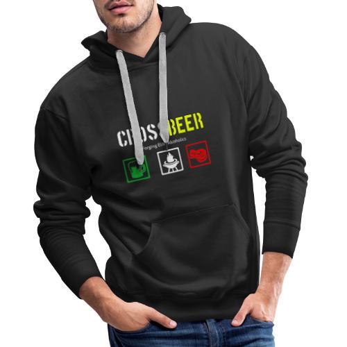 crossbeer - Felpa con cappuccio premium da uomo