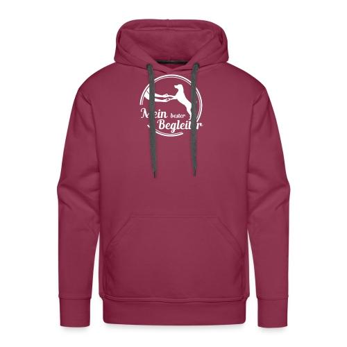 mein lester begleiter logo weiss - Männer Premium Hoodie