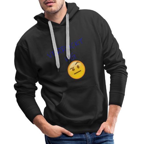 VERRUeCKT WG only text mit emoji - Männer Premium Hoodie