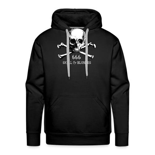 skull & blondes (white) - Männer Premium Hoodie