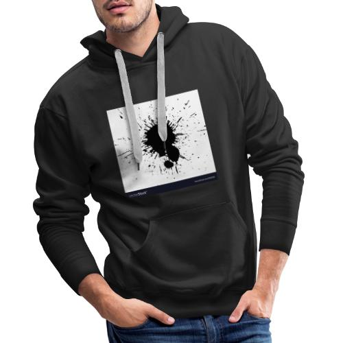 black ink splatter vector 9151185 - Männer Premium Hoodie