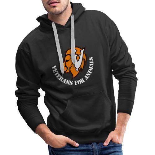 logo wit - Mannen Premium hoodie