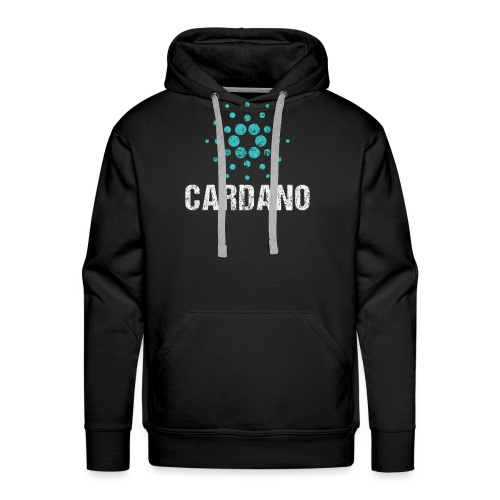 Cardano Ada Logo Cryptos Vintage - Männer Premium Hoodie
