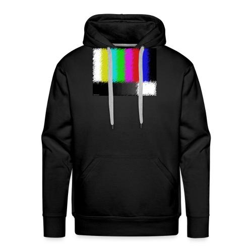 Testbild bunte Streifen - Männer Premium Hoodie