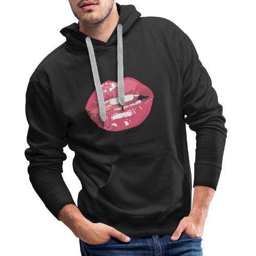 Sexy Mouth - Sweat-shirt à capuche Premium pour hommes