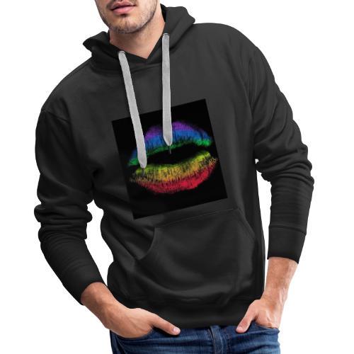 D2 levres - Sweat-shirt à capuche Premium pour hommes