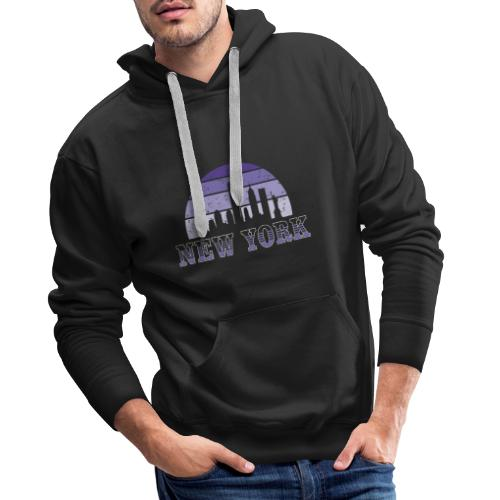 New York skyline - Sudadera con capucha premium para hombre