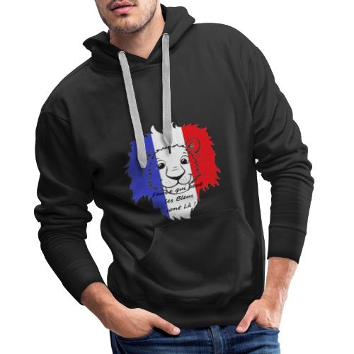 Lion supporter France - Sweat-shirt à capuche Premium pour hommes