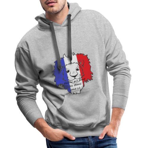 Lion supporter France - Sweat-shirt à capuche Premium pour hommes
