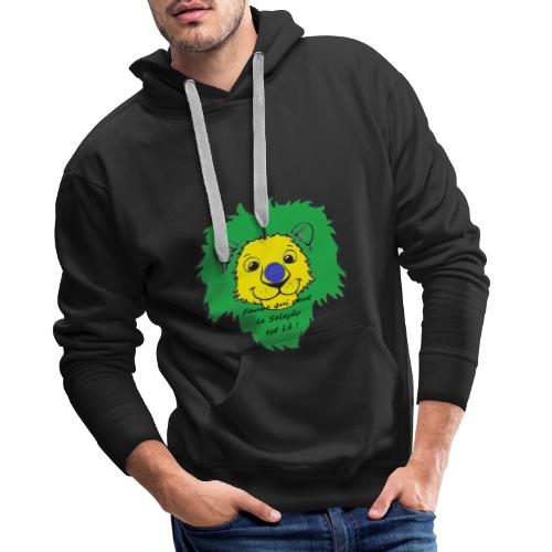 Lion supporter Brésil - Sweat-shirt à capuche Premium pour hommes