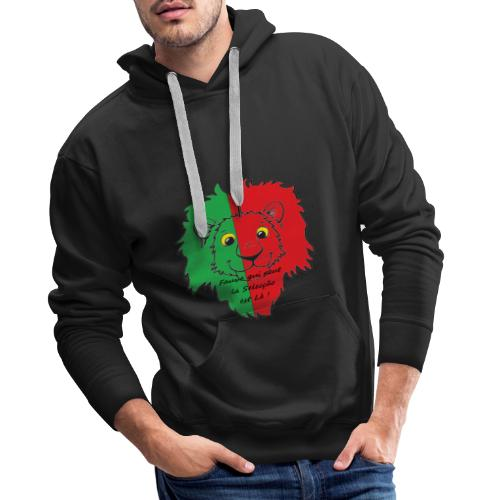 Lion supporter Portugal - Sweat-shirt à capuche Premium pour hommes