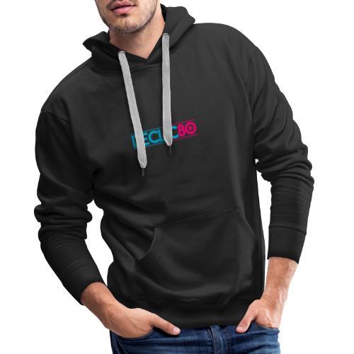 DECLIC80 - Sweat-shirt à capuche Premium pour hommes
