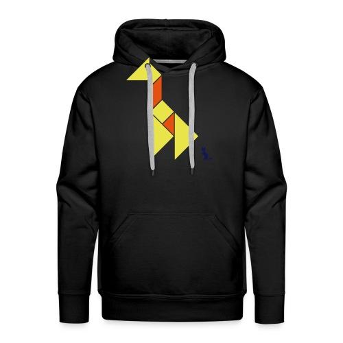 En mode tangram - Giraffe - Sweat-shirt à capuche Premium pour hommes