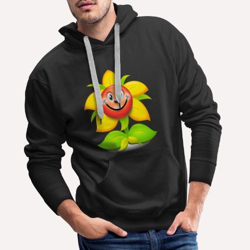 Smiling Face Happy Flower - Men's Premium Hoodie