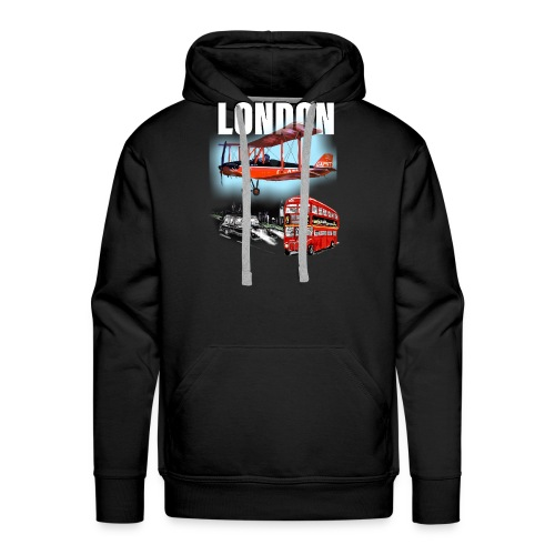London by day and night! - Men's Premium Hoodie