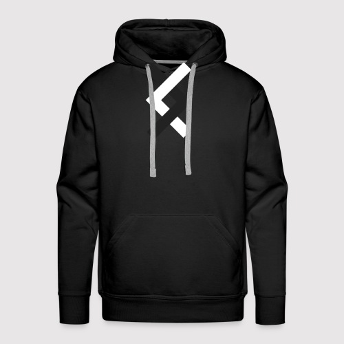 DANE - Black & White - Men's Premium Hoodie