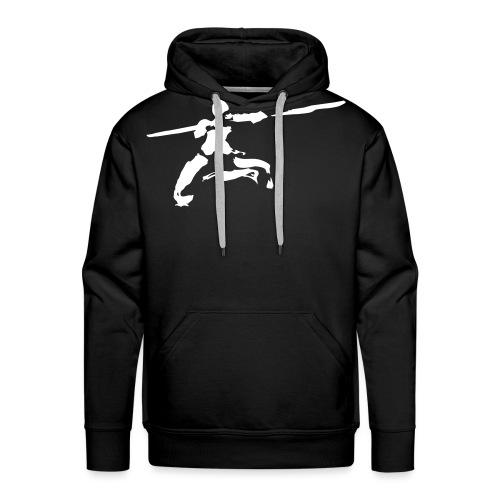 Kungfu stick fighter / ink - Men's Premium Hoodie