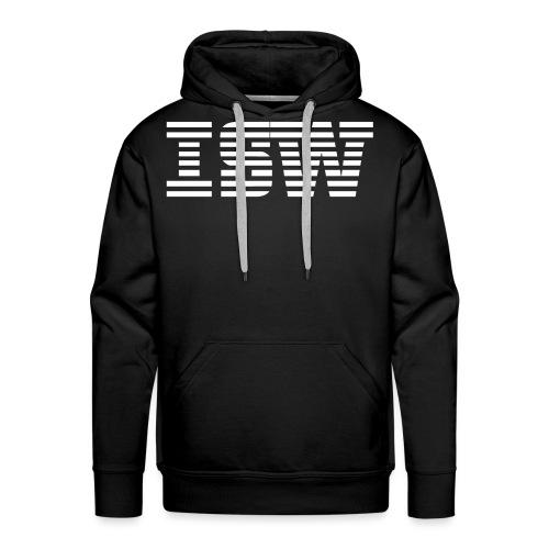 iswlogo wit - Mannen Premium hoodie