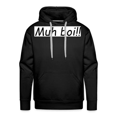 muh boi logo - Premium hettegenser for menn
