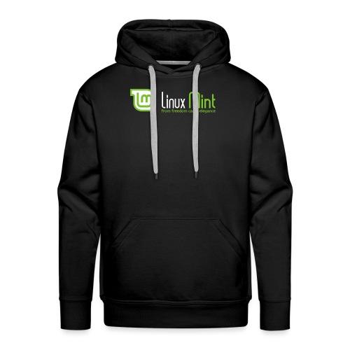 linux mint - Felpa con cappuccio premium da uomo