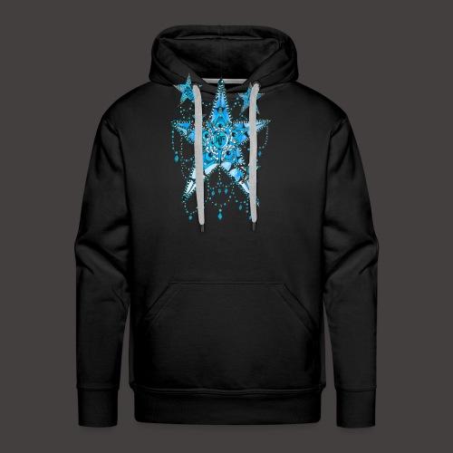 ETOILE DENTELLE BLEUE - Sweat-shirt à capuche Premium pour hommes