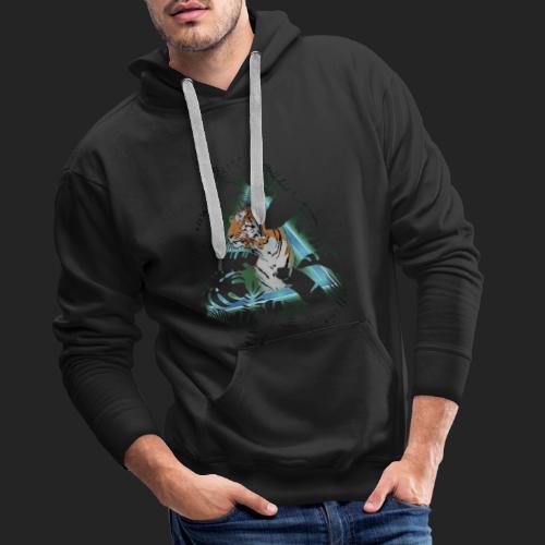 Tigre en soirée - Sweat-shirt à capuche Premium pour hommes