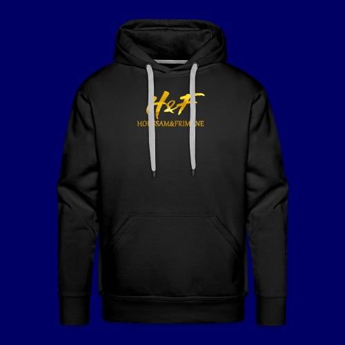 H&f gold logo - Felpa con cappuccio premium da uomo