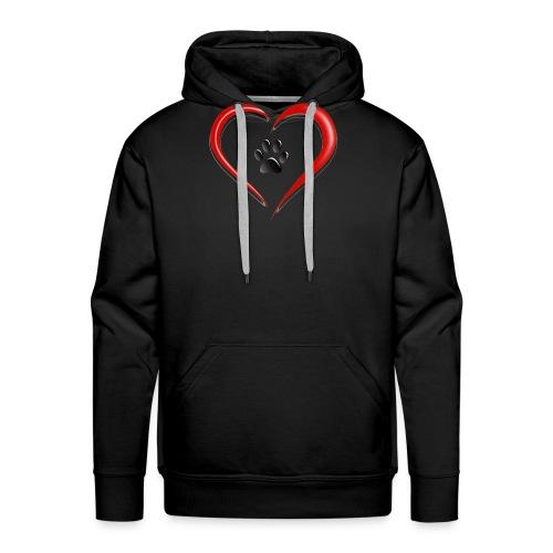 Shirt Herz auf vier Beinen - Männer Premium Hoodie