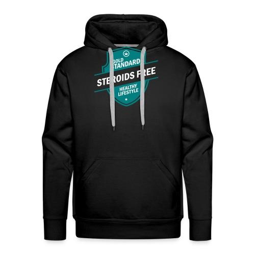 GoldStd-SteroidsFree-33 - Men's Premium Hoodie