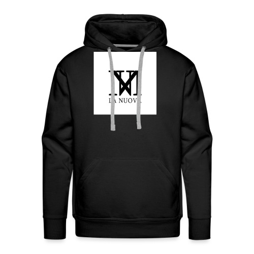 'LA NUOVA' White Background - Men's Premium Hoodie