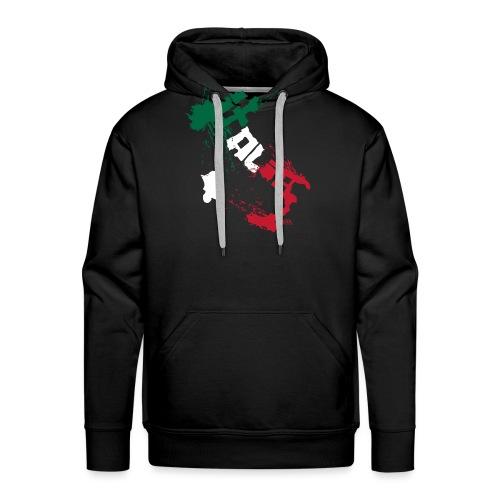 Italia Blanc.png - Sweat-shirt à capuche Premium pour hommes