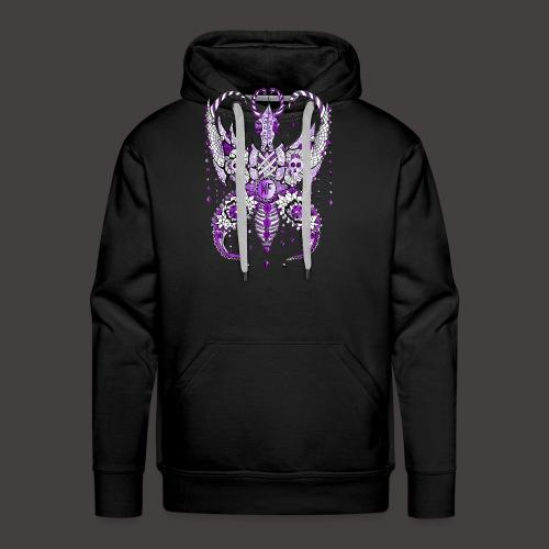 Papillon Lilou Violet - Sweat-shirt à capuche Premium pour hommes