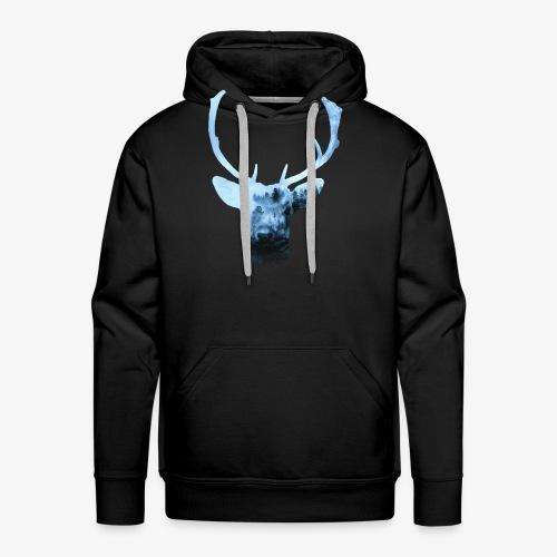 Deer's Spirit - Felpa con cappuccio premium da uomo