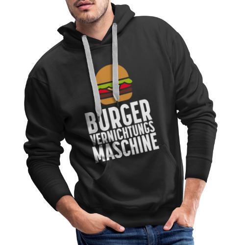 Burger Fanshirt Hamburger Grillen Burgerfreak - Männer Premium Hoodie