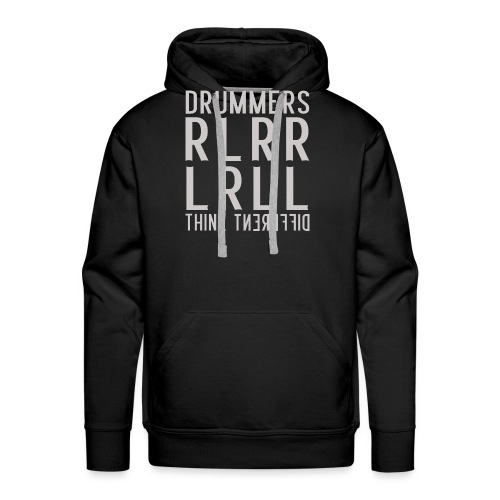 Drummers think different - Paradiddle - Männer Premium Hoodie