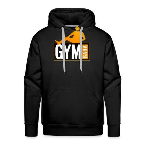 gym-baba-2-org-txtBlc dgr - Sweat-shirt à capuche Premium pour hommes
