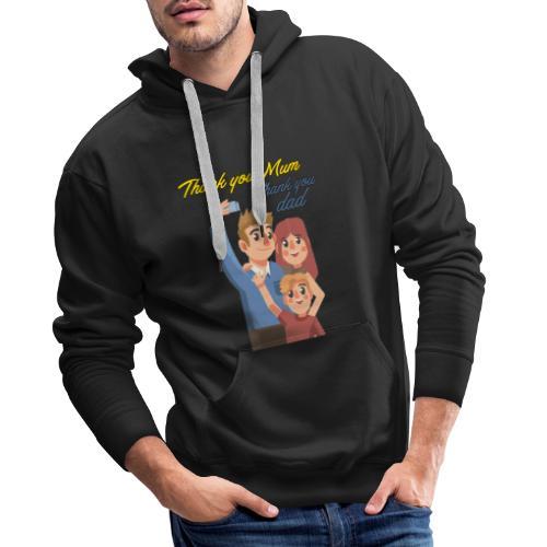 Thank you mum design - Sweat-shirt à capuche Premium pour hommes