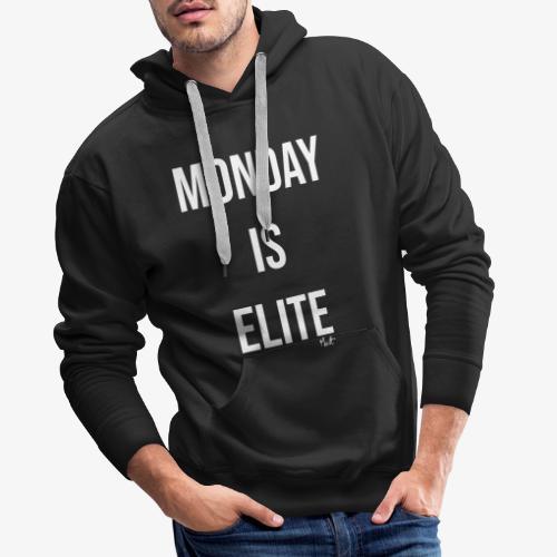 monday is elite - Felpa con cappuccio premium da uomo