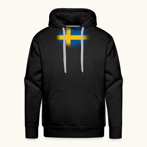 Suède cadeau drôle de drapeau suédois - Sweat-shirt à capuche Premium pour hommes