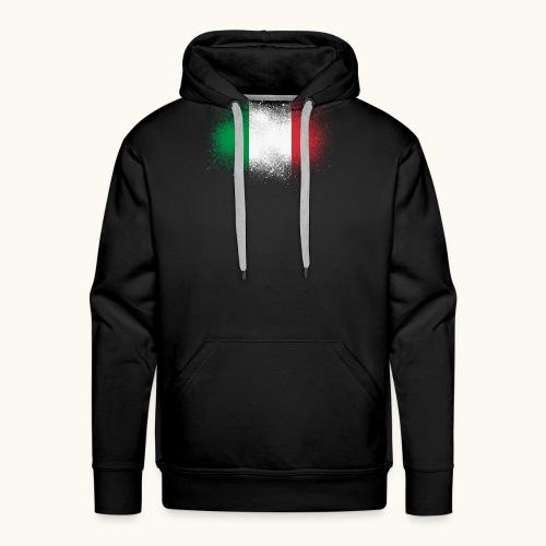 Italie cadeau drôle de drapeau italien grunge - Sweat-shirt à capuche Premium pour hommes
