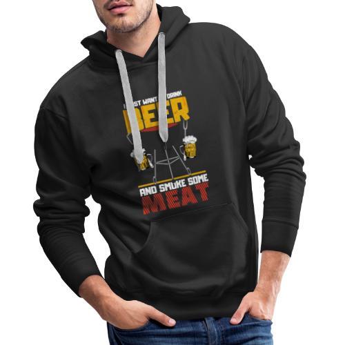 Grillen und Bier der Master trägt das Shirt. - Männer Premium Hoodie