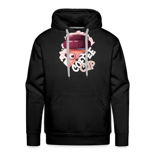 froehlicher Kaffeebecher Kaffee Kaffeebohne - Männer Premium Hoodie